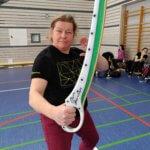 Karin Verelst mit gewonnenem Dussack